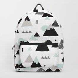 Geometric Fuji mountain japan travel pattern Backpack