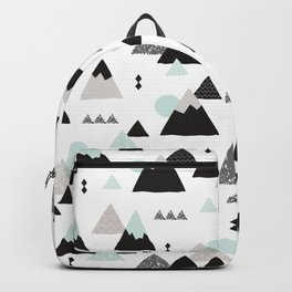 Geometric Fuji mountain japan travel pattern Backpack