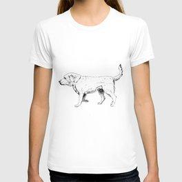Labrador Retriever Ink Drawing T-shirt