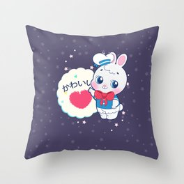 Kawaii usagi Throw Pillow