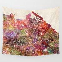 edinburgh Wall Tapestries featuring Edinburgh by MapMapMaps.Watercolors