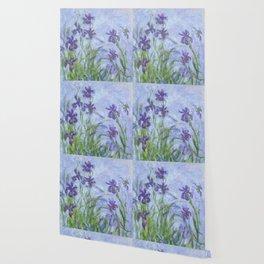 "Claude Monet ""Iris mauves"" Wallpaper"