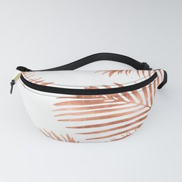 Rose Gold Palm Leaves Fanny Pack