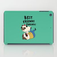 pug iPad Cases featuring PUG by Jarvis Glasses