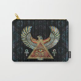 Eye of Horus - Wadjet  Gemstone and Gold Carry-All Pouch