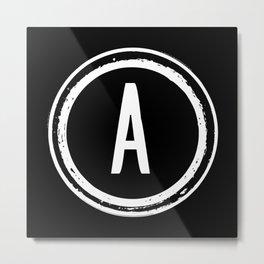 Letter A Monogram Metal Print