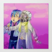 dmmd Canvas Prints featuring Watch out! Clear and Aoba by Mottinthepot