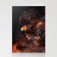 atheist Stationery Cards featuring Thoughts of A Dying Atheist by Matteus Faria