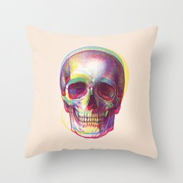 acid calavera Throw Pillow