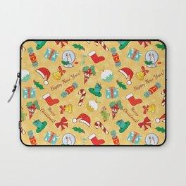 Christmas candy,bells and santa hat SB5 Laptop Sleeve