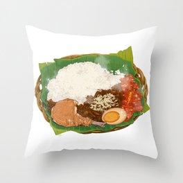 Nasi Gudeg Throw Pillow