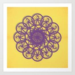 Cycle Circle Art Print