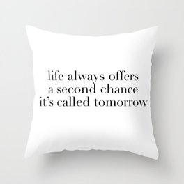 it's called tomorrow Throw Pillow