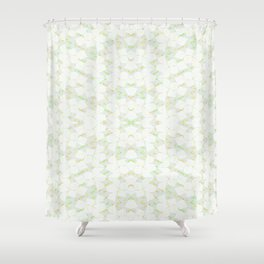 Ghost Kaleidoscope (Citrine) Shower Curtain