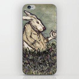 I'm Late I'm Late! White Rabbit iPhone Skin