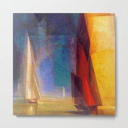 Classical Masterpiece 'Stiller Tag am Meer III' by Lyonel Feininger Metal Print