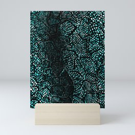 Turquoise Snake Skin Mini Art Print