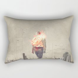 These cities burned my soul Rectangular Pillow