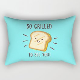 Cheesy Greetings! Rectangular Pillow