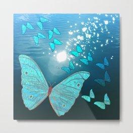 Bitwork Butterfly Metal Print