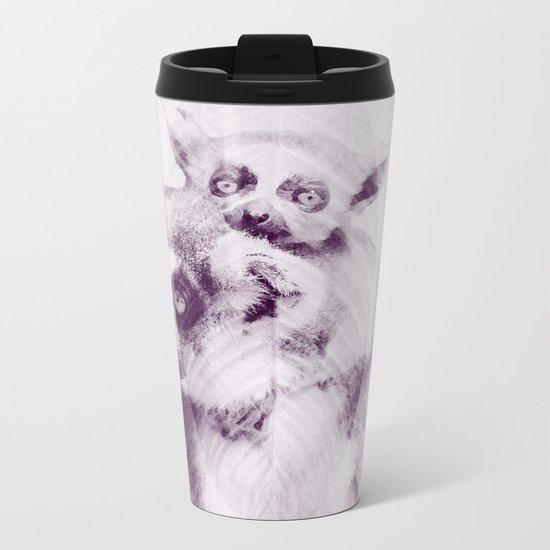 Happy Mother's Day - Lemur - maki catta Metal Travel Mug