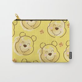 Inspired Pooh Bear surrounded with bees Pattern on Yellow background Carry-All Pouch