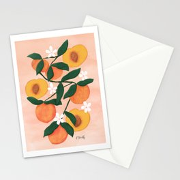 Summer Peaches Stationery Cards