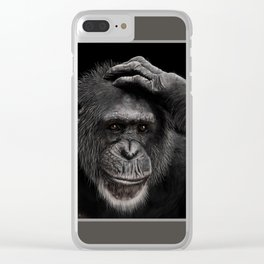 Thoughtful Monkey Clear iPhone Case
