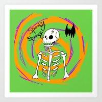 Spooky Spooky Art Print