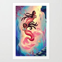 MerTwins Art Print