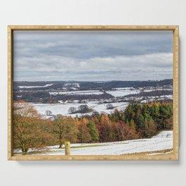 Muggleswick snow landscape Serving Tray