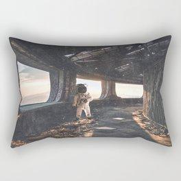 Astronaut in an Abandoned Building Rectangular Pillow