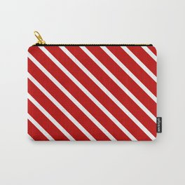 Chilli Diagonal Stripes Carry-All Pouch