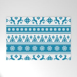 Christmas Holiday Nordic Pattern Cozy Welcome Mat