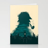 sherlock holmes Stationery Cards featuring Sherlock Holmes by Electra