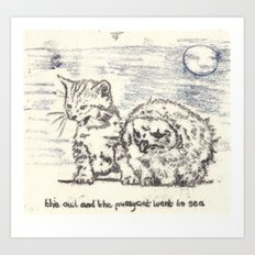 The Owl And The Pussycat Went to Sea Art Print