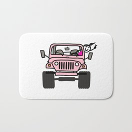 Jeep Wave Pink - Girl Bath Mat
