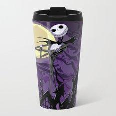 Halloween Purple Sky with jack skellington iPhone 4 4s 5 5c, ipod, ipad, pillow case tshirt and mugs Metal Travel Mug