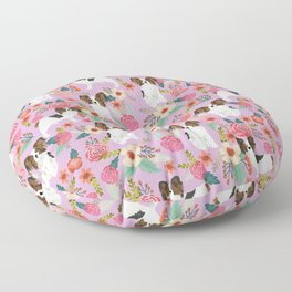 Papillon pet friendly small cute dog breed must have gift for dog lover florals dog pattern print Floor Pillow