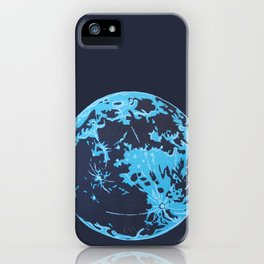 Turquoise Moon iPhone Case