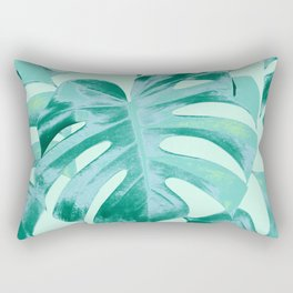 Tropical Monstera Leaves Dream #4 #tropical #decor #art #society6 Rectangular Pillow