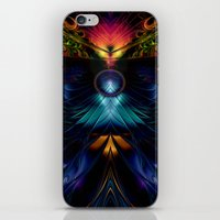 stargate iPhone & iPod Skins featuring Stargate Fractal Abstract by BohemianBound