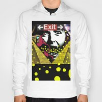 subway Hoodies featuring EXIT SUBWAY by AF Knott
