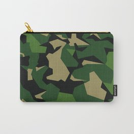 Camouflage Splinter Pattern Green Barret Carry-All Pouch