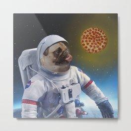 Pugernaut - Pug in Space Metal Print