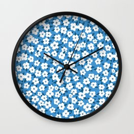 Southern Floral Pattern Wall Clock
