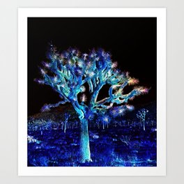 Joshua Tree VG Hues by CREYES Art Print