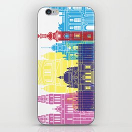 Zagreb skyline pop iPhone Skin