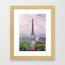 Paris city skyline Framed Art Print