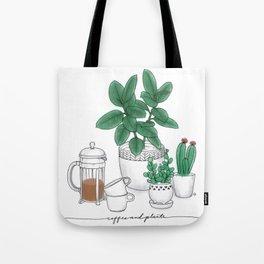 Coffee and Plants Tote Bag
